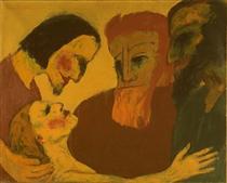 Jesus Christ and the sinner - Emil Nolde