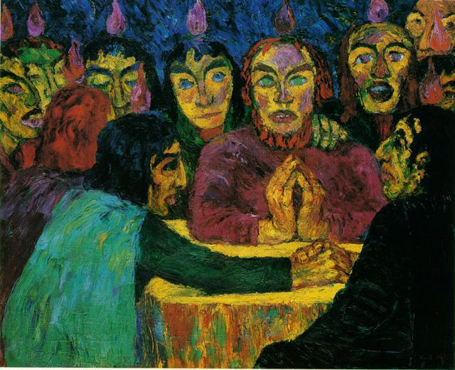 Pentecostes, 1909 - Emil Nolde