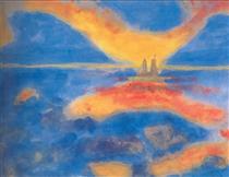 Sunrise at the sea - Emil Nolde