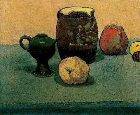 Earthware Pot and Apples, 1887 - Émile Bernard