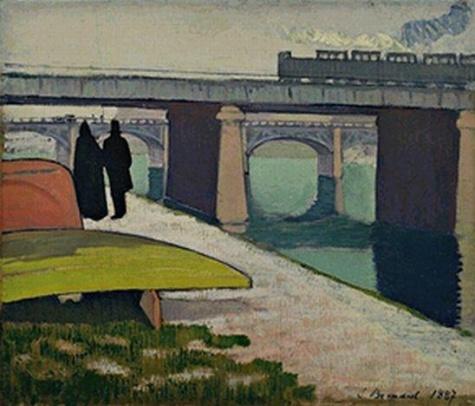 Iron Bridges at Asniéres, 1887 - Émile Bernard