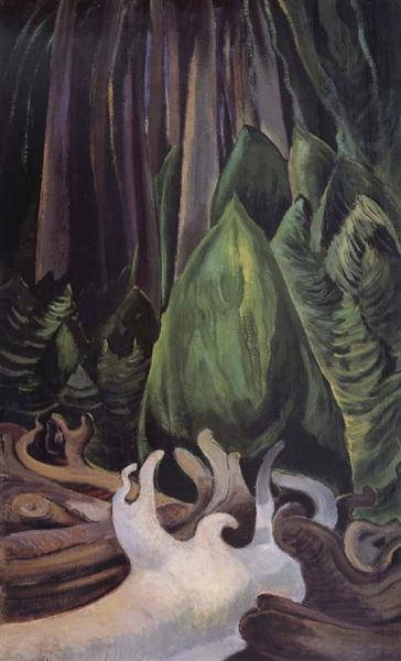 Sea Drift at the edge of the forest, 1931 - Emily Carr