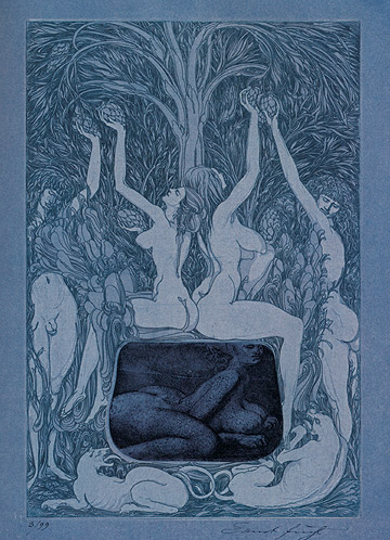 IN THE SHEETS OF THE NIGHT, 1966 - Ernst Fuchs