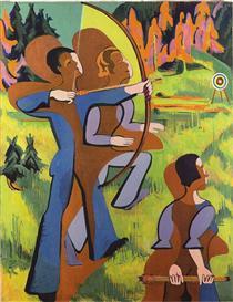Archers - Ernst Ludwig Kirchner
