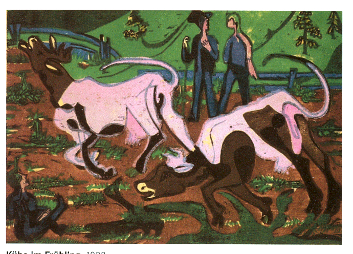 Cattle in the Spring, 1933 - Ernst Ludwig Kirchner