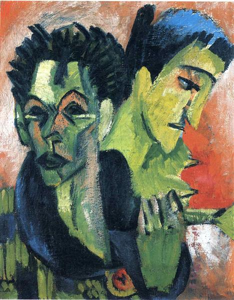 Double Self-Portrait - Ernst Ludwig Kirchner