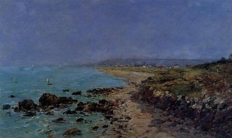 Douarnenez, the Shore and the Bay, 1897 - Eugène Boudin