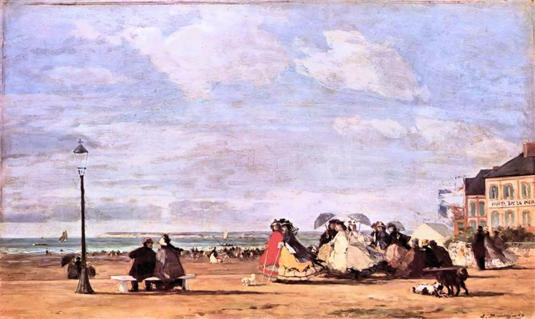 Empress Eugenie on the beach at Trouville, 1863 - Eugene Boudin