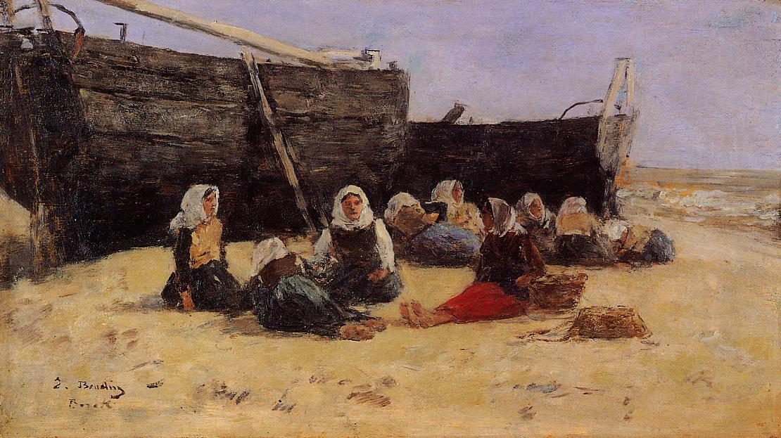 Fishwomen Seated on the Beach at Berck, 1878