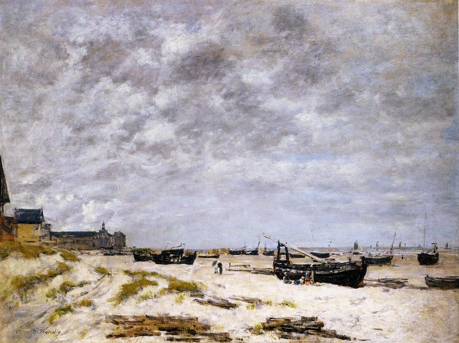 The Beach, Berck, 1882
