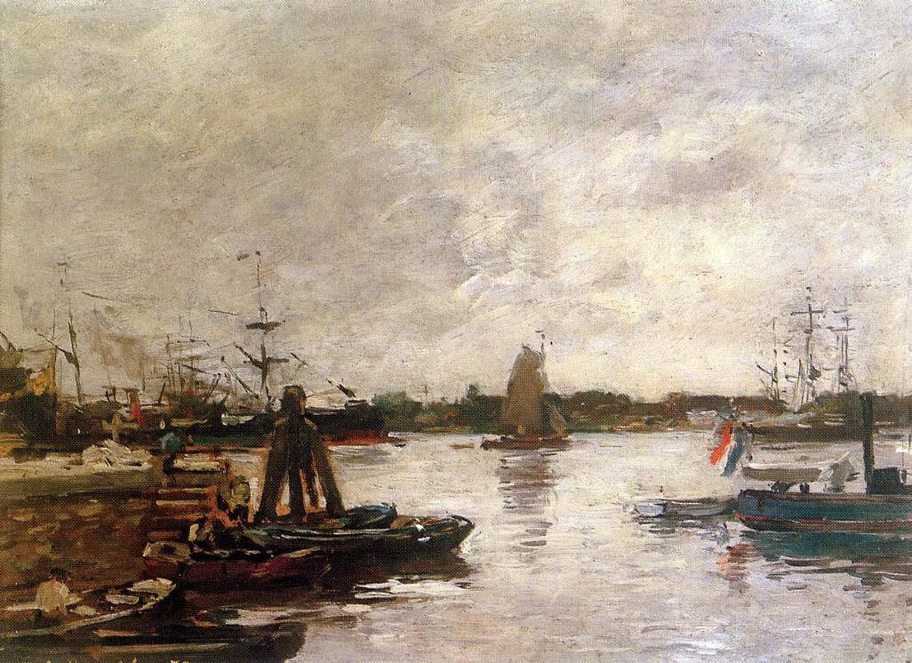 The Spanish quay in Rotterdam Sun, 1879