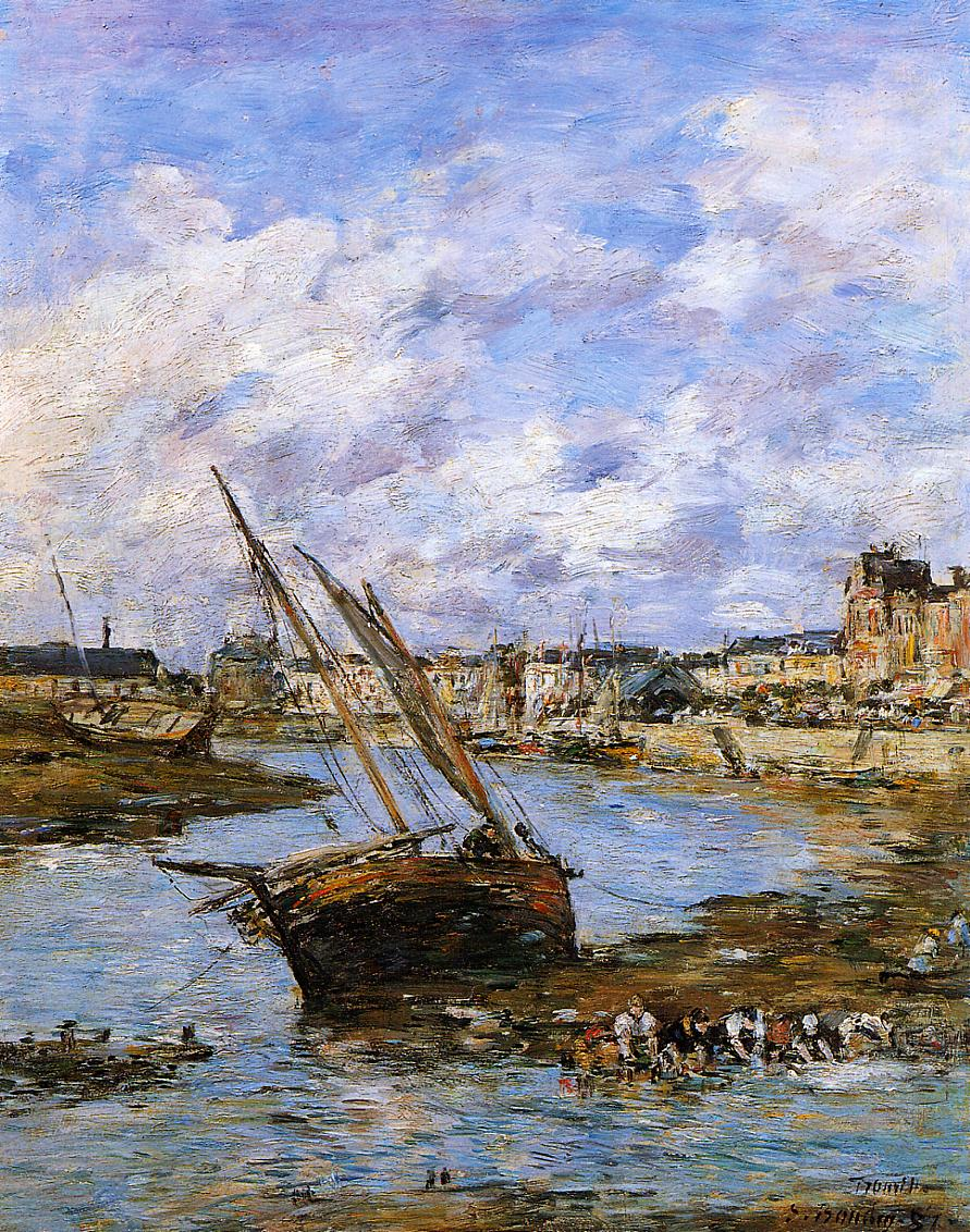 Trouville, the Inner Port, Low tide, 1881
