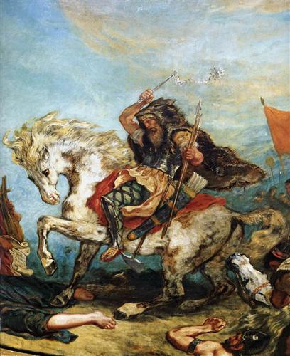 Attila the Hun  - Eugene Delacroix