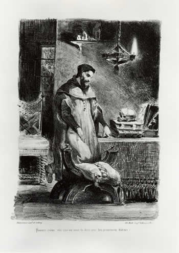 Faust in his Study, 1828 - Eugene Delacroix