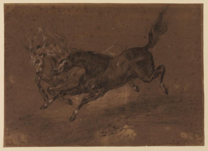 Бегущие лошади - Эжен Делакруа