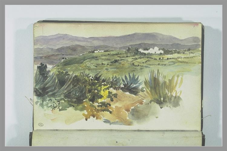 Landscape near Tangier - Eugene Delacroix