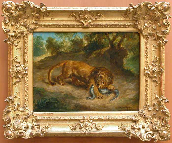 Lion and alligator, 1855 - Eugene Delacroix