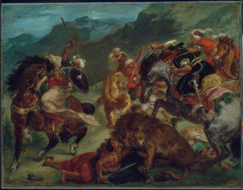 http://uploads4.wikipaintings.org/images/eugene-delacroix/lion-hunt-1858(1).jpg