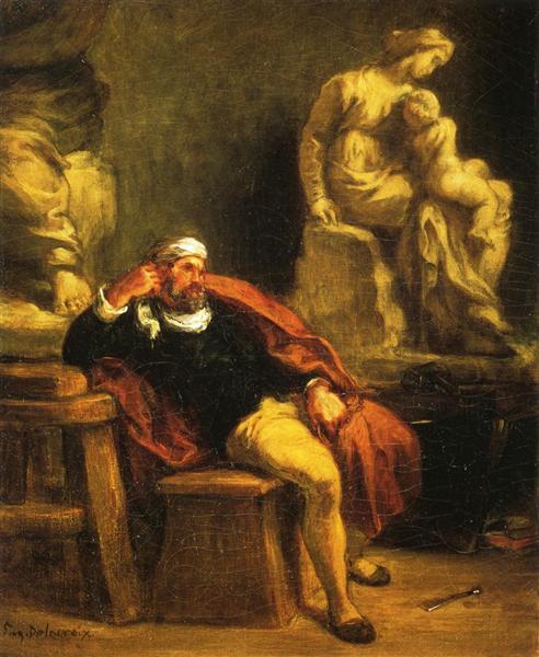 Michelangelo in his Studio, 1849 - 1850 - Eugene Delacroix