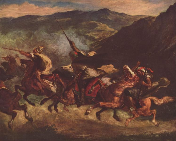 Moroccan Fantasia, 1847 - Eugene Delacroix