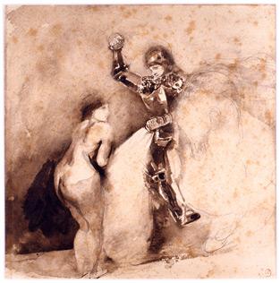 Study for Marphisa, 1850 - Eugene Delacroix