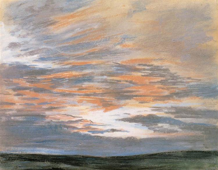 Study of the Sky at Sunset, 1849 - Eugene Delacroix