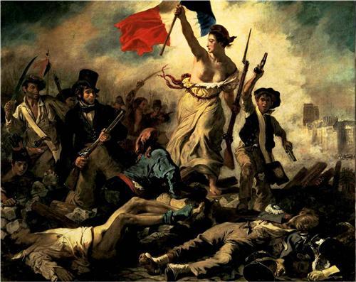 Свобода, ведущая народ (Свобода на баррикадах) - Эжен Делакруа