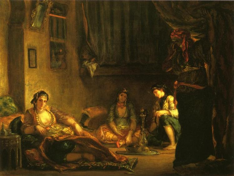 Women of Algiers in Their Apartment - Eugene Delacroix