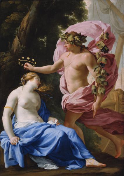 Bacchus and Ariadne, 1640 - Eustache Le Sueur