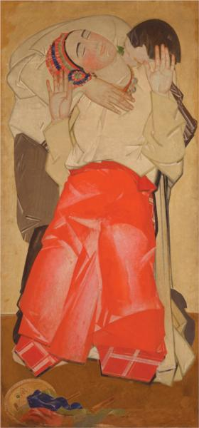Life (triptych) - Love, 1927 - Fedir Krychevsky