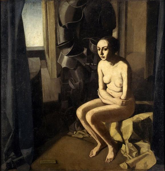 La donna e l'armatura - Felice Casorati