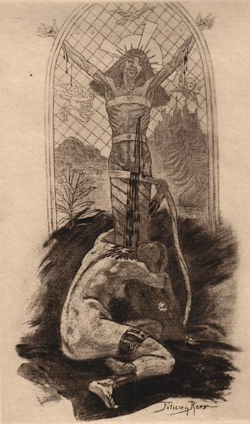 The Lover of Christ, 1888 - Félicien Rops