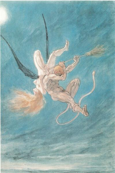 The Satanic. Removal, 1882 - Félicien Rops