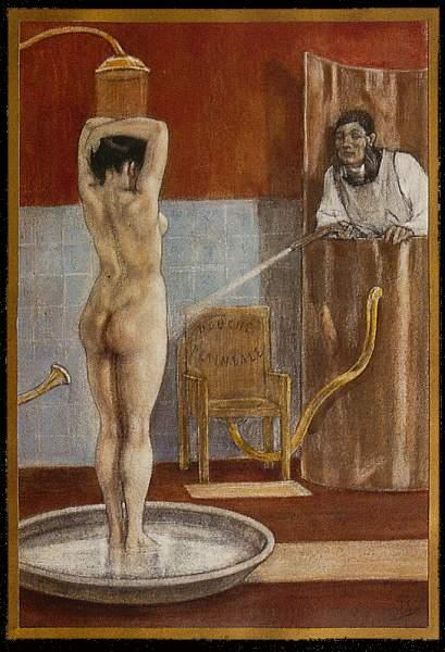 The Shower, c.1878 - c.1881 - Félicien Rops