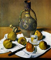 Moroccan jug and pears - Felix Vallotton