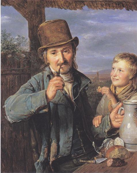 The day laborer with his son, 1823 - Ferdinand Georg Waldmüller