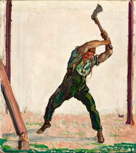 The Woodman, 1910 - Ferdinand Hodler