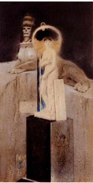 Image result for fernand khnopff sphinx