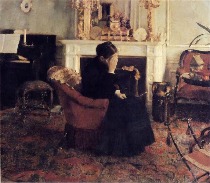Listening to Schumann, 1883 - Fernand Khnopff