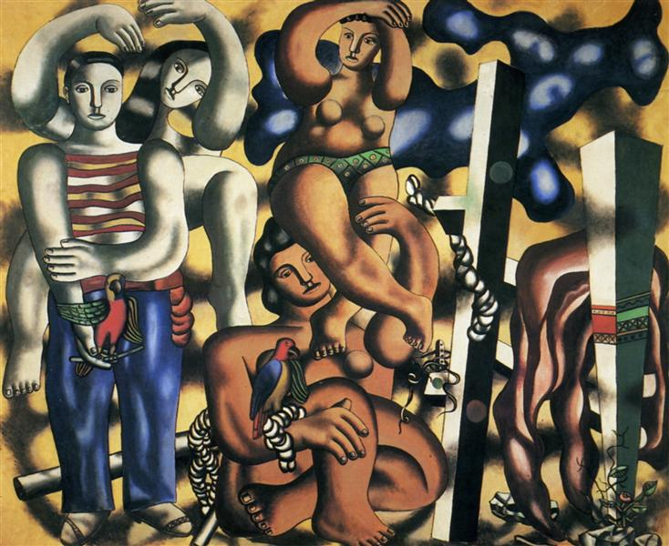 Composition with the two parrots - Fernand Leger