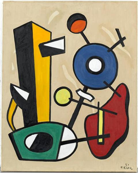 Forms in space, 1950 - Fernand Leger