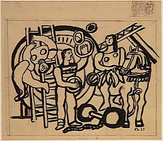 The rider ( the juggler, the acrobat), 1953 - Fernand Leger