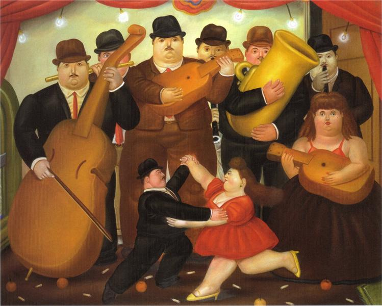 Dance in Colombia, 1980 - Fernando Botero