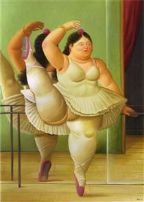 Ballerini al bar - Fernando Botero