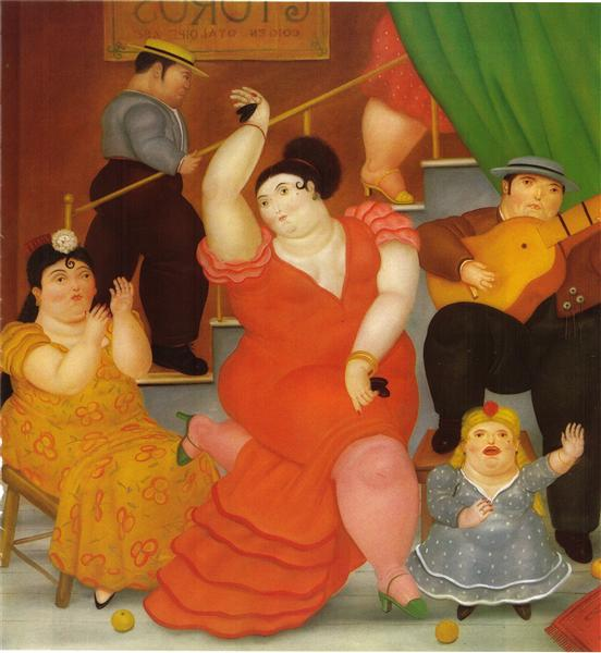 Image result for Fernando Botero's Tablao flamenco