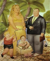 Frank Lloyd e la sua famiglia in Paradise Island - Fernando Botero