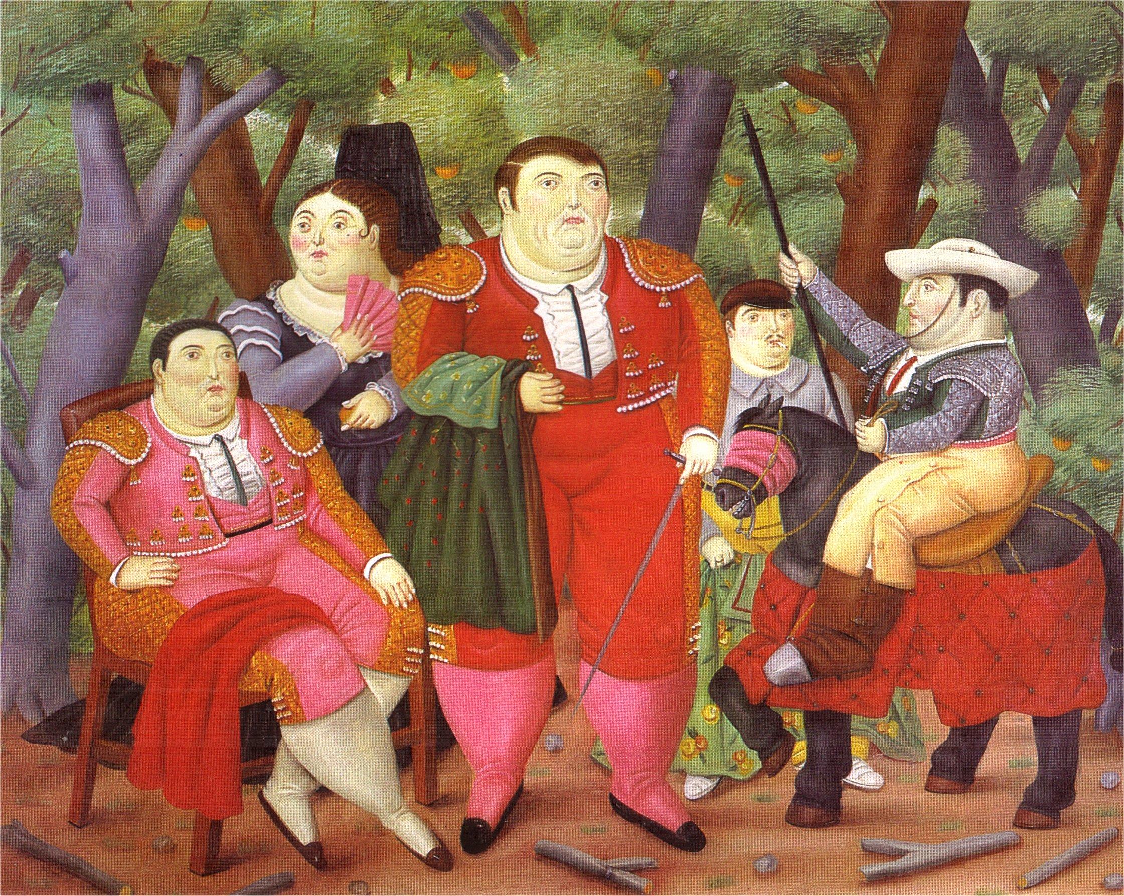 Célèbre Lefty and His Gang, 1987 - Fernando Botero - WikiArt.org YZ23