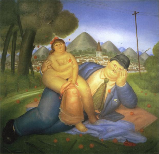 Lovers, 1973 - Fernando Botero