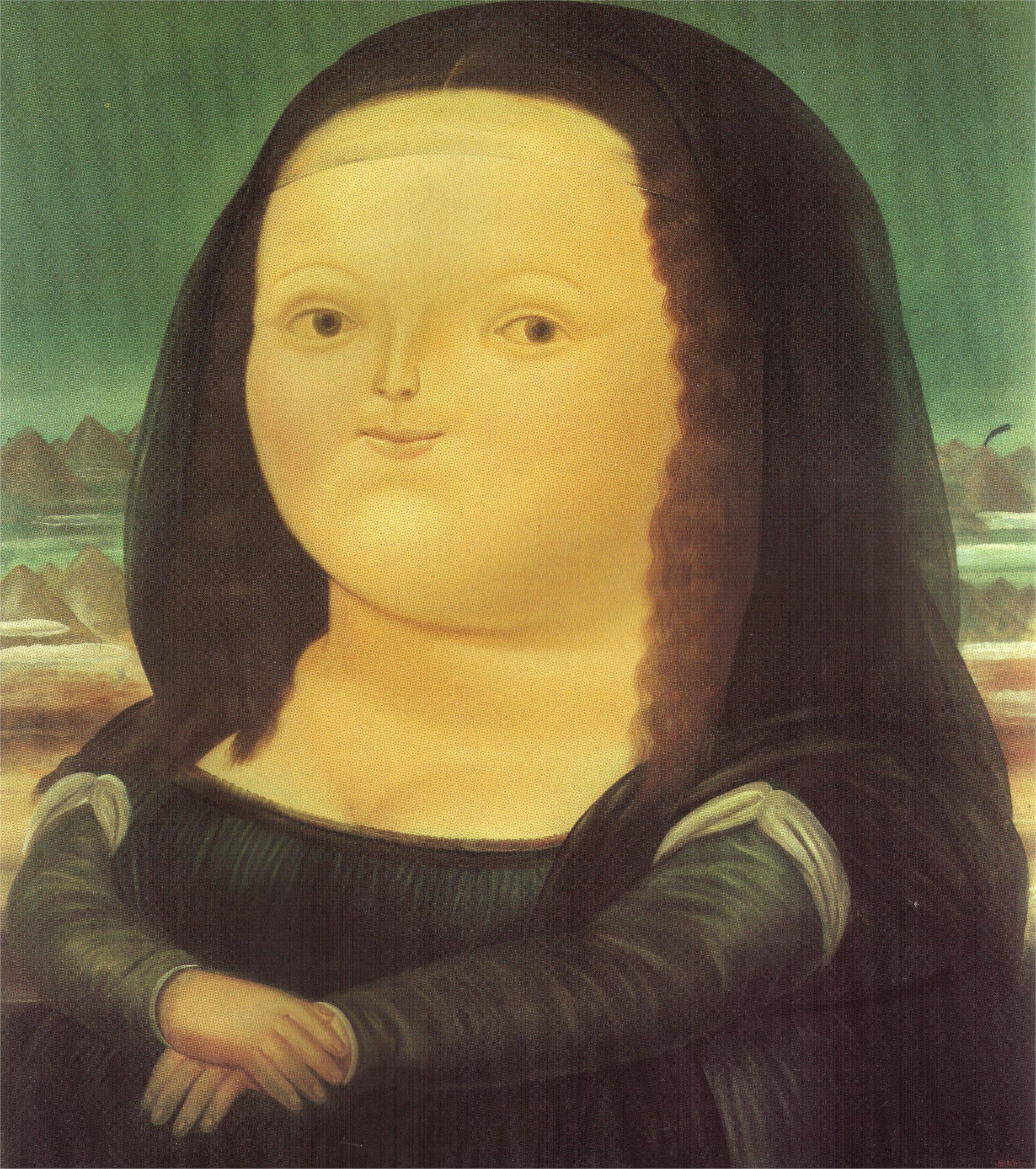 Populaire Mona Lisa, 1978 - Fernando Botero - WikiArt.org GU85
