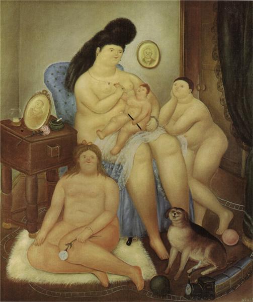 Protestant family, 1969 - Fernando Botero